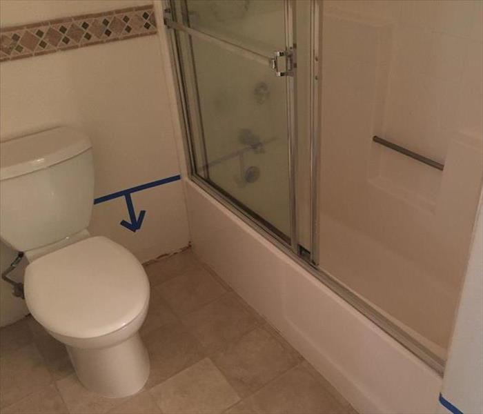 Residential Bathroom Water Damage Before