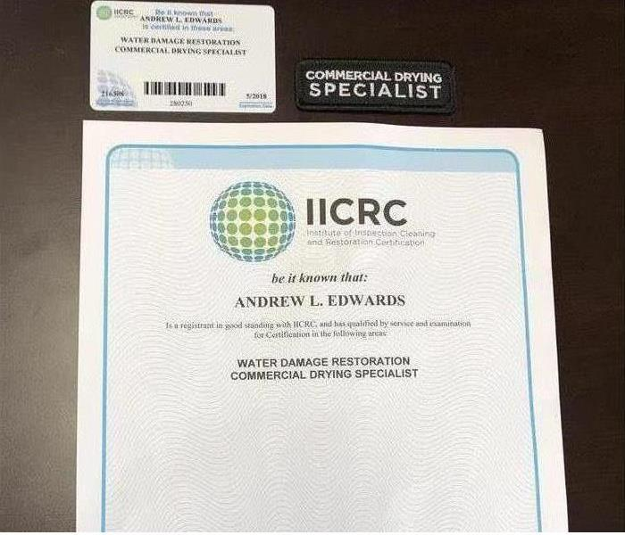IICRC Certified Firm - Commercial Drying Specialist